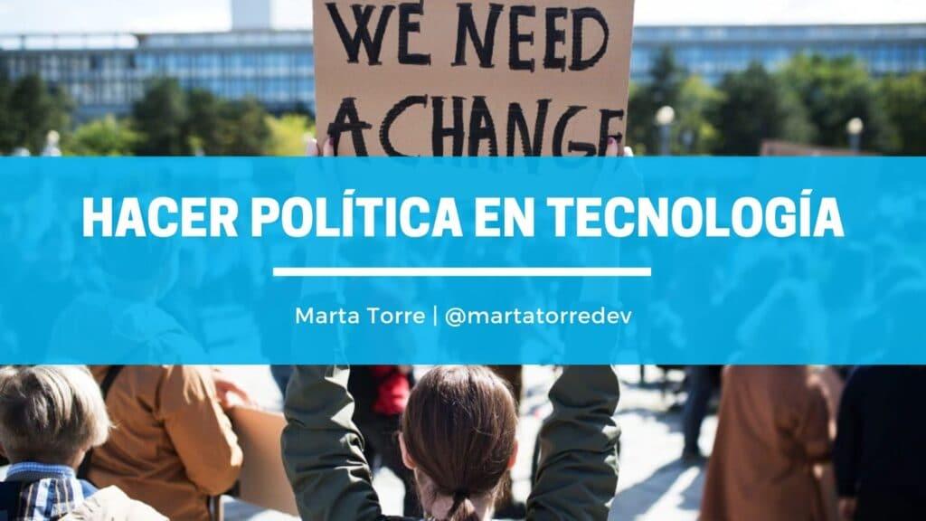 Hacer política en tecnología